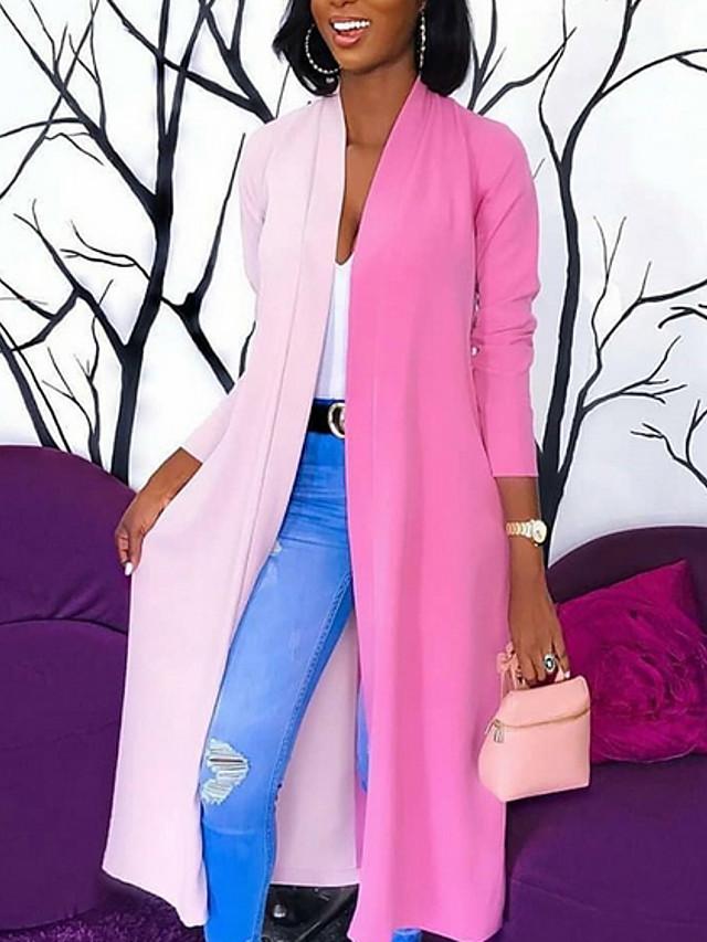 pink purple women's color block coats