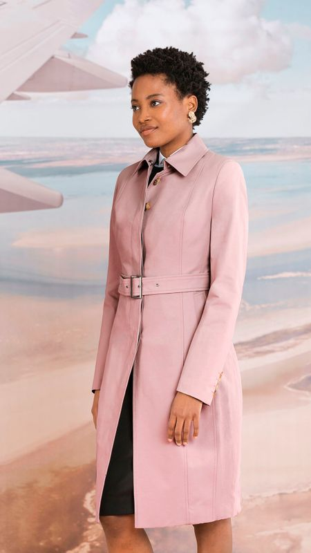 women's pink trench coats