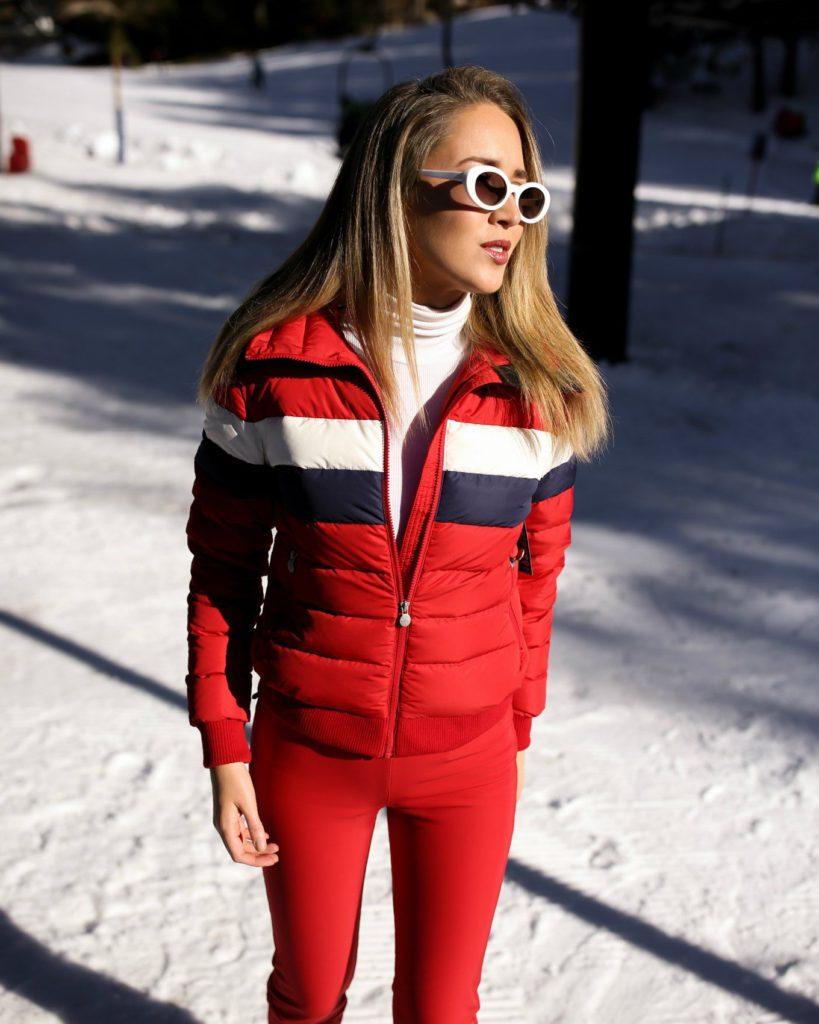 trendy red ski clothing for women