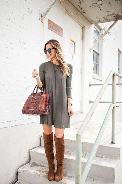 women's fall dress outfit