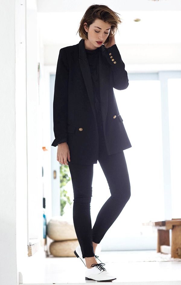 women's tomboy suit outfit