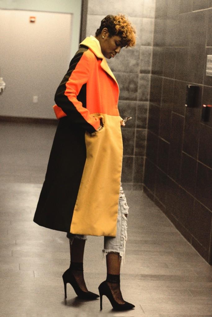 women's coats in warm colors