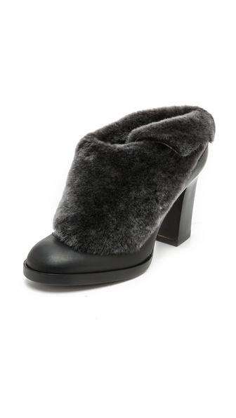 black winter mules
