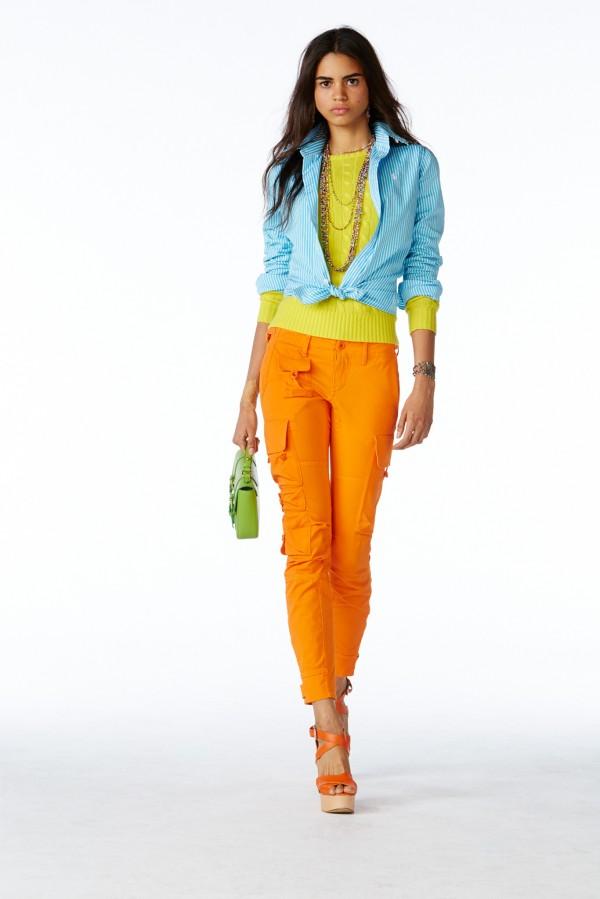 orange cargo women's pants