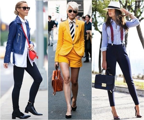 trendy women's masculine tailoring for work