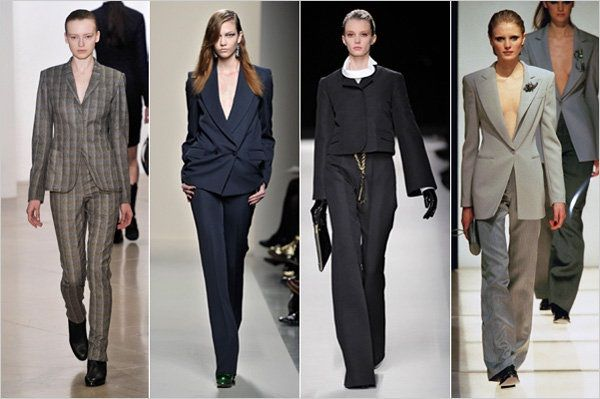 women's trends masculine tailoring
