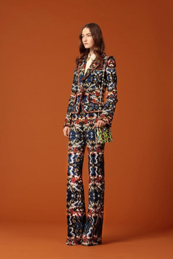 women's printed suit