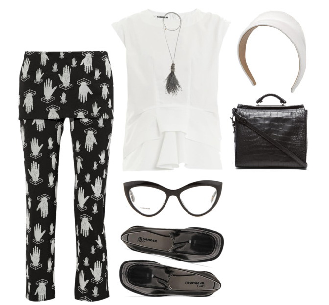 women casual outfit with fit straight-leg pants