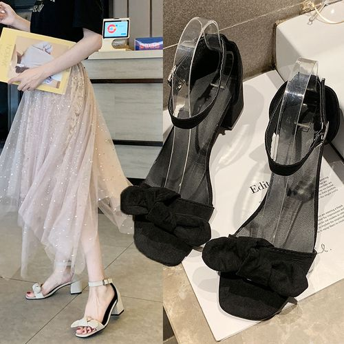 classy black bow tie heels