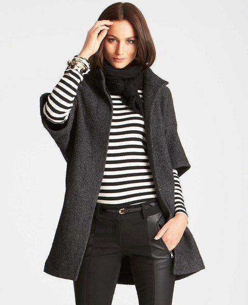 women's black short sleeve coats for winter