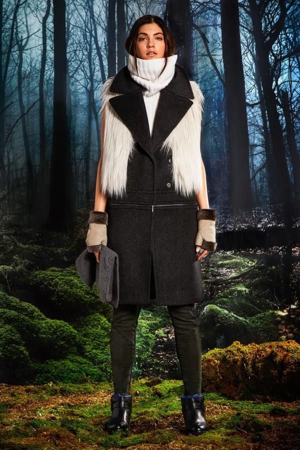 women's black sleeveless coats