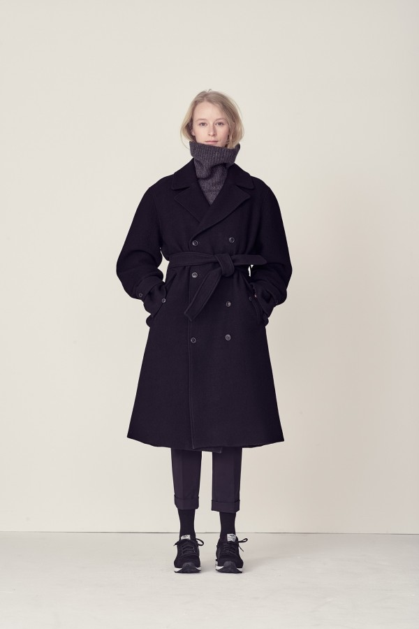 women's trench blue coat