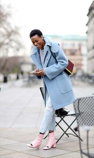 women's blue pastel coats