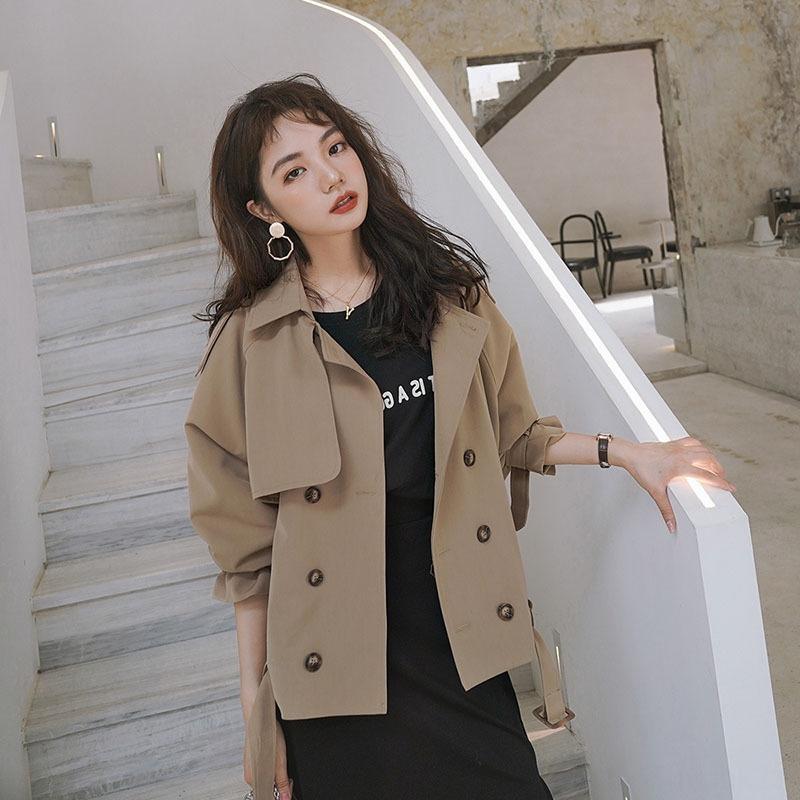 camel short sleeve coat for women