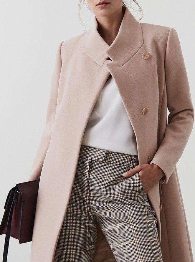 women's pink minimalist coats for fall winter