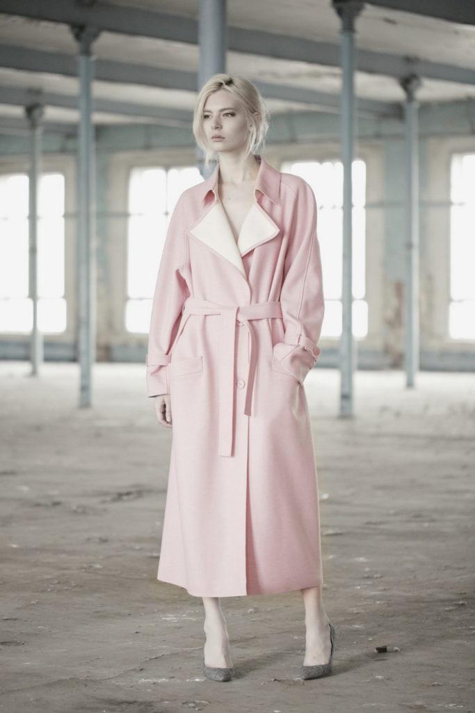 chic women's pink pastel coats