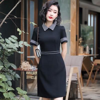 black collar shirt dresses for work