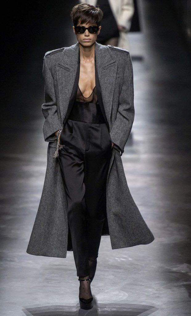 chic women's gray minimalist coats for fall winter