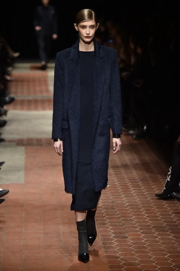 elegant women's blue coat