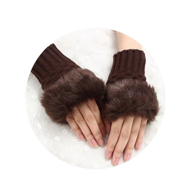 finger-less winter gloves for women