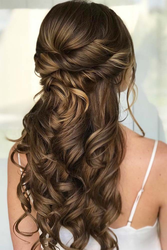 half up do evening hairstyles
