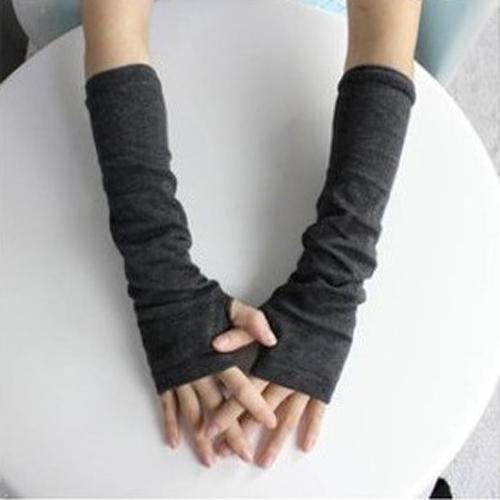 long cotton finger-less gloves