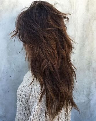 cascade jagged hairstyles for women
