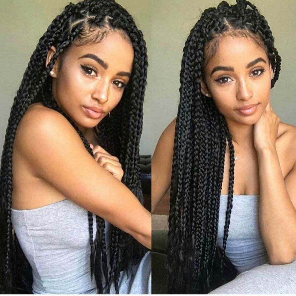loose box braids