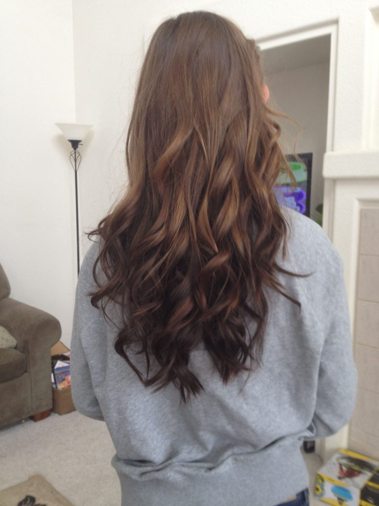 natural reverse ombre hairstyle