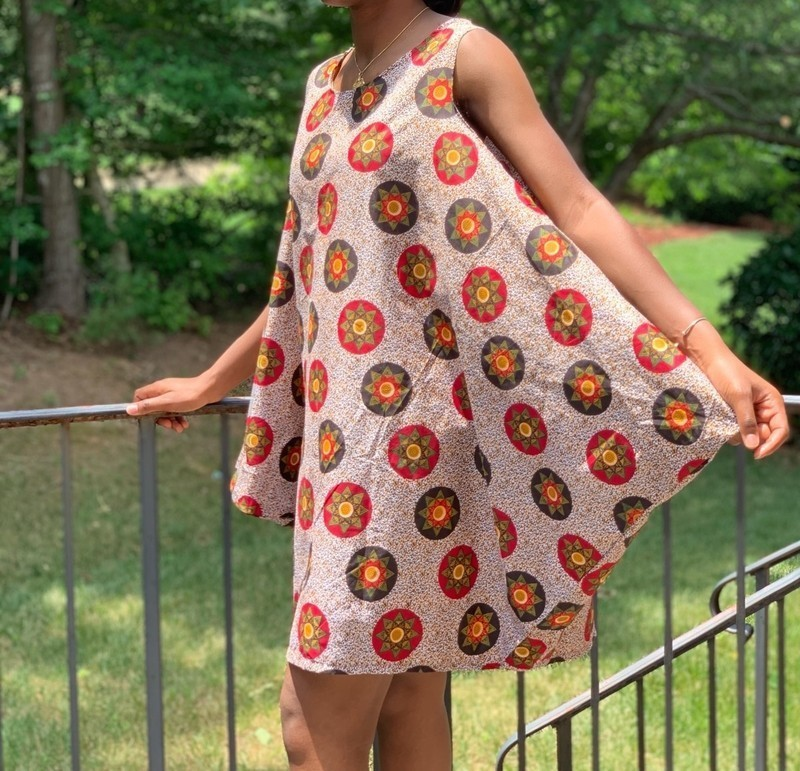 printed cocoon dresses for summer