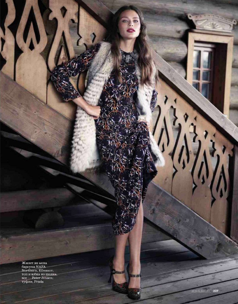 printed women's dress for winter