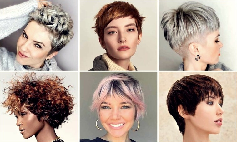 women's short hairstyles in different colors