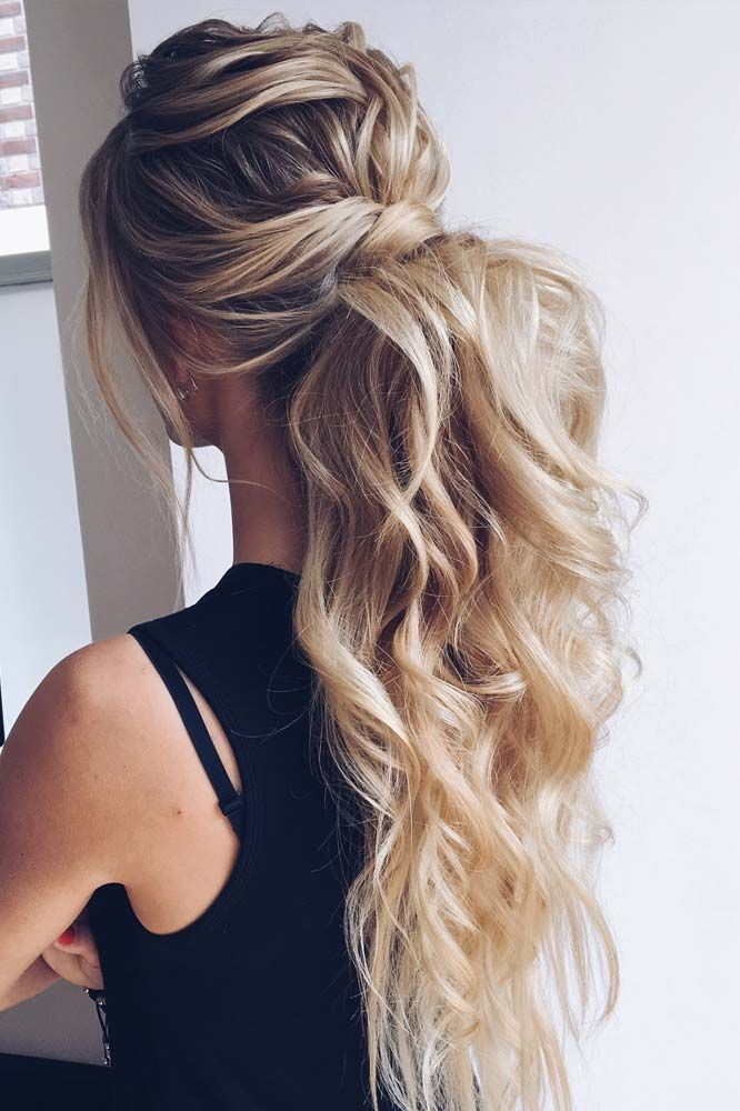 chic pony tail for evenings
