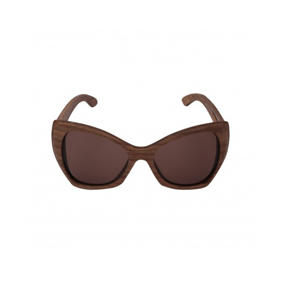 wood vintage women's sunglasses