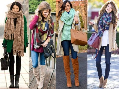 winter scarves looks for women