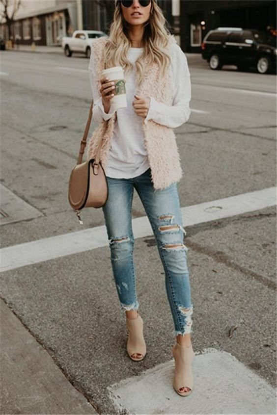 women's vests casual fall outfits