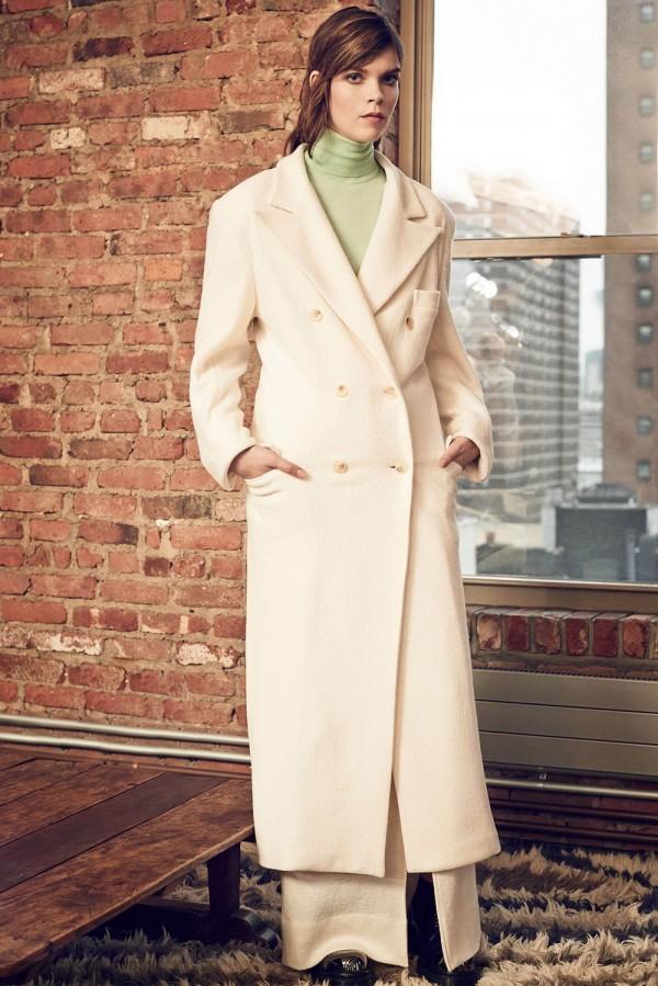 women's long winter white coat
