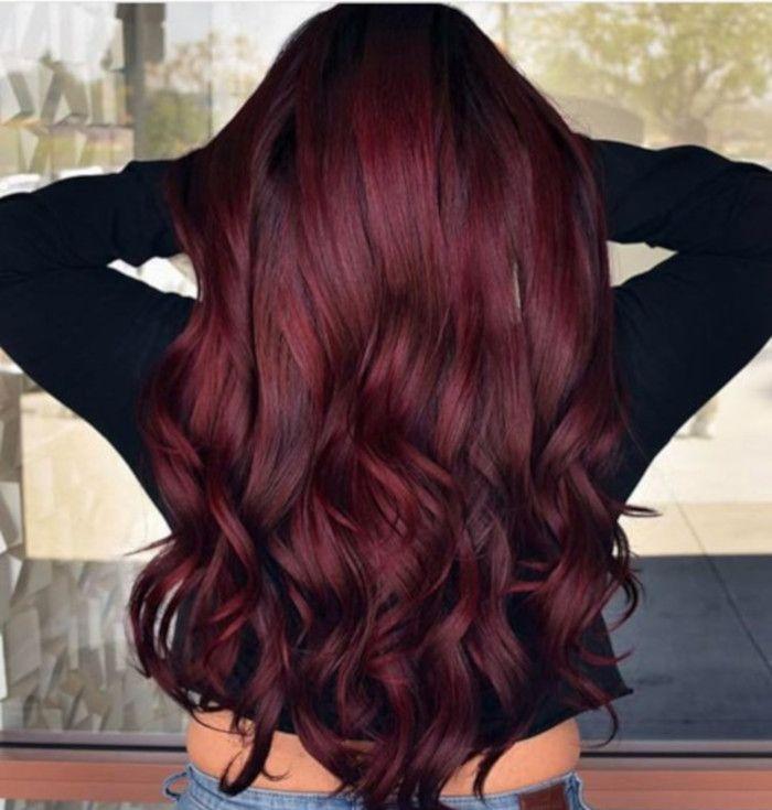 women's purple red hair