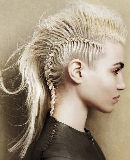 modern shaved head imitation hairstyle for women