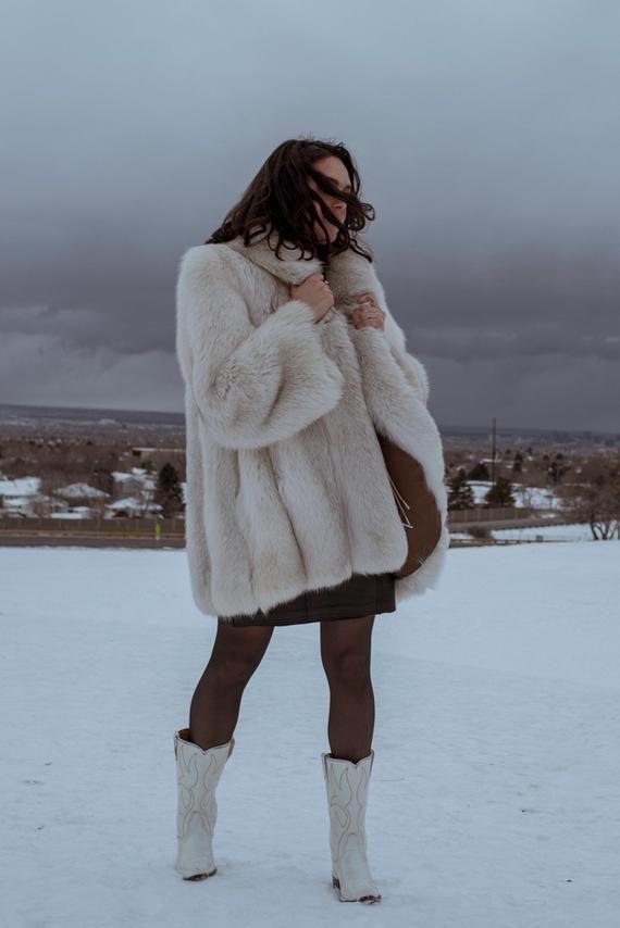 white coat dress leggings and boots for winter