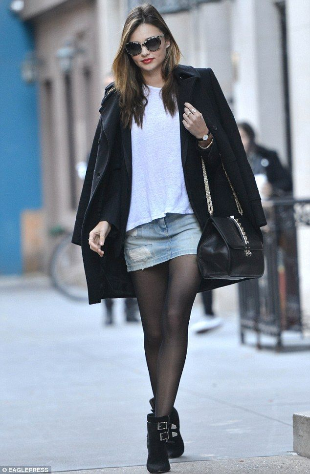 women's winter looks with mini skirt